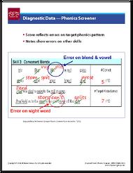 Phonics Screener Example