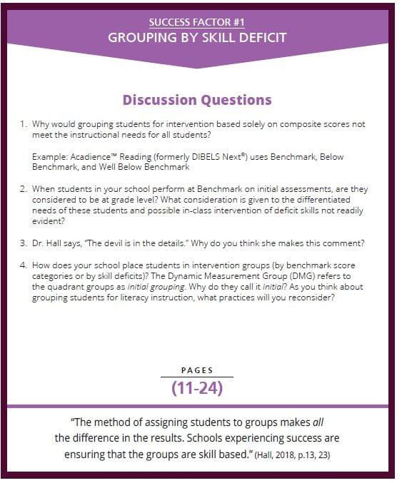 bundle facilitator's guide page