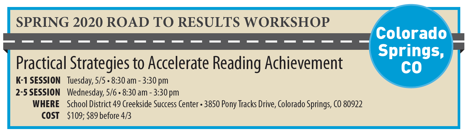 Colorado Springs Road to Results Details